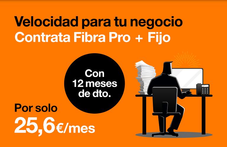Fibra 300 Mb + fijo con llamadas ilimitadas. 12 meses de descuento