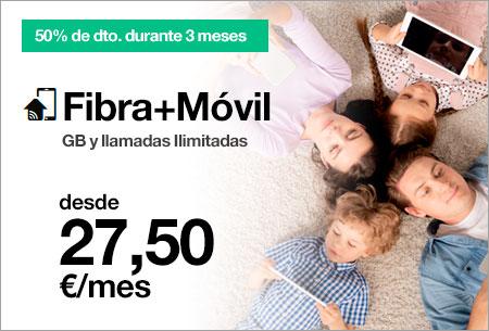 Tarifa Fibra+Móvil+Tv