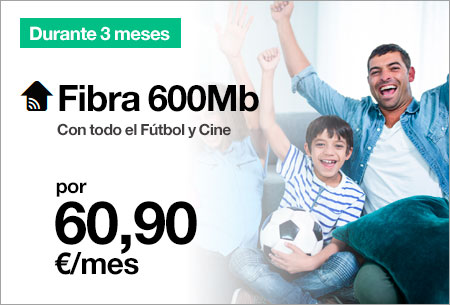 Fibra 600Mb + Orange TV