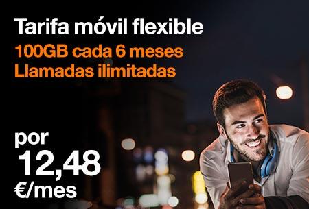 Con Go Flexible, tú decides cuándo consumir tus datos ¡Ahora, al 50%dto. durante 3 meses!