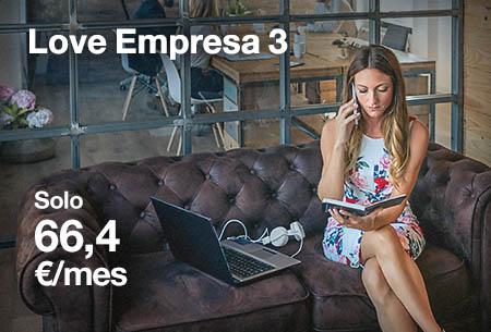 3 líneas móviles ilimitadas y fibra hasta 1 GB. 12 meses con 20% dto. Por 66,4 €/mes