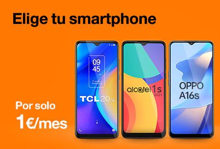 Oferta del mes. Smartphones por 1€