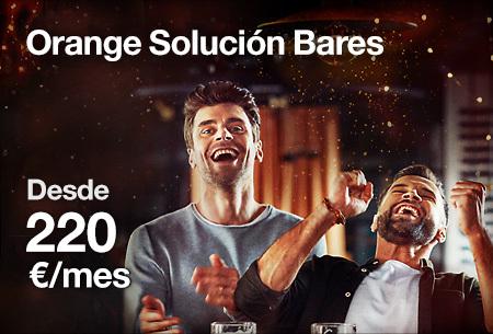 Orange Solución Bares por 220€/mes. Contrata con Love Empresa 30% dto. 12 meses. Llámanos para contratar