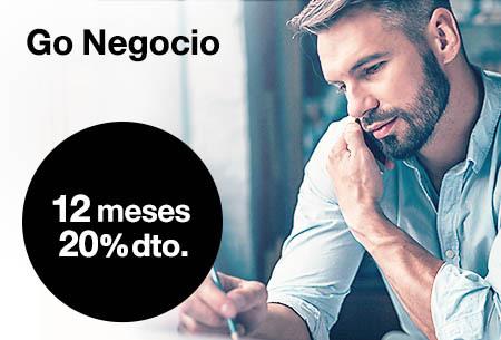 Tarifas móviles ilimitadas Go Negocio. 20% dto. 12 meses. Elige tu tarifa
