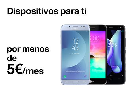 Consigue un smartphone por menos de 5 €/mes