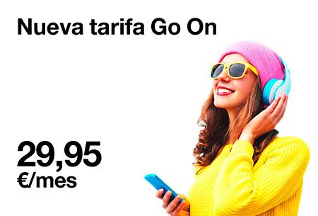 Conoce la tarifa Go On por solo 29,95 €/mes, con 7 GB y llamadas ilimitadas