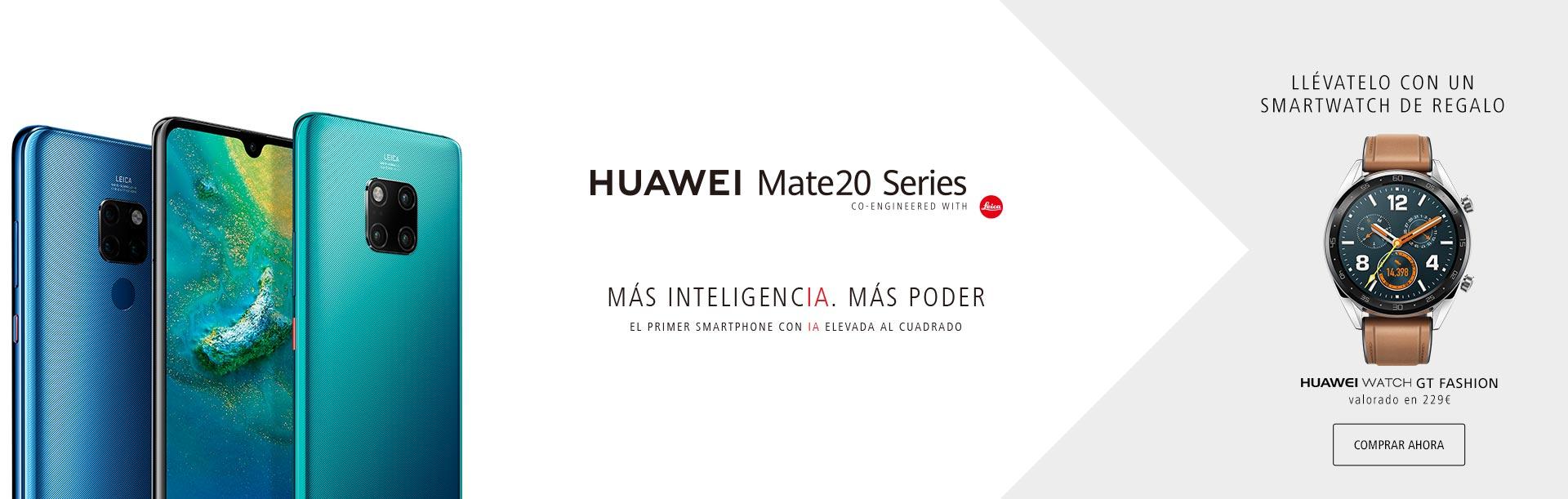 Hazte ahora un Huawei Mate20 Series, con un smartwatch Huawei de regalo