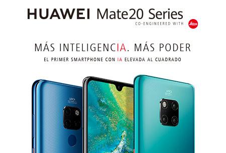 Hazte ahora con un Huawei Mate20 Series desde 24,95 €/mes