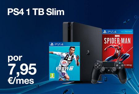 Hazte ahora con esta PS4 1 TB Slim por 7,95 €/mes. Precio online
