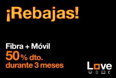 Llévate ahora Fibra + Móvil al 50 % de descuento durante 3 meses
