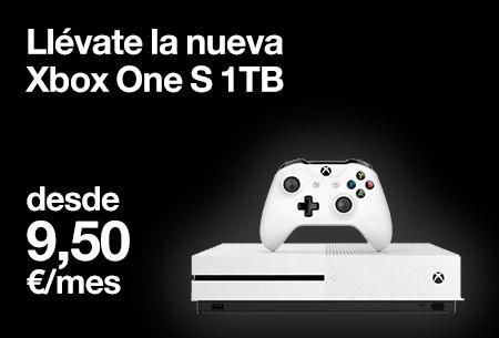 Llévate la nueva Xbox One S 1TB desde 9,50 €/mes