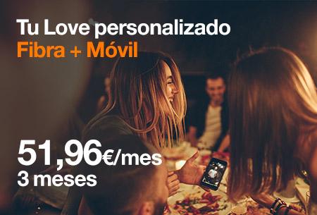 Hazte ahora con Fibra 100 Mb con 15 GB desde 51,96 €/mes durante 3 meses