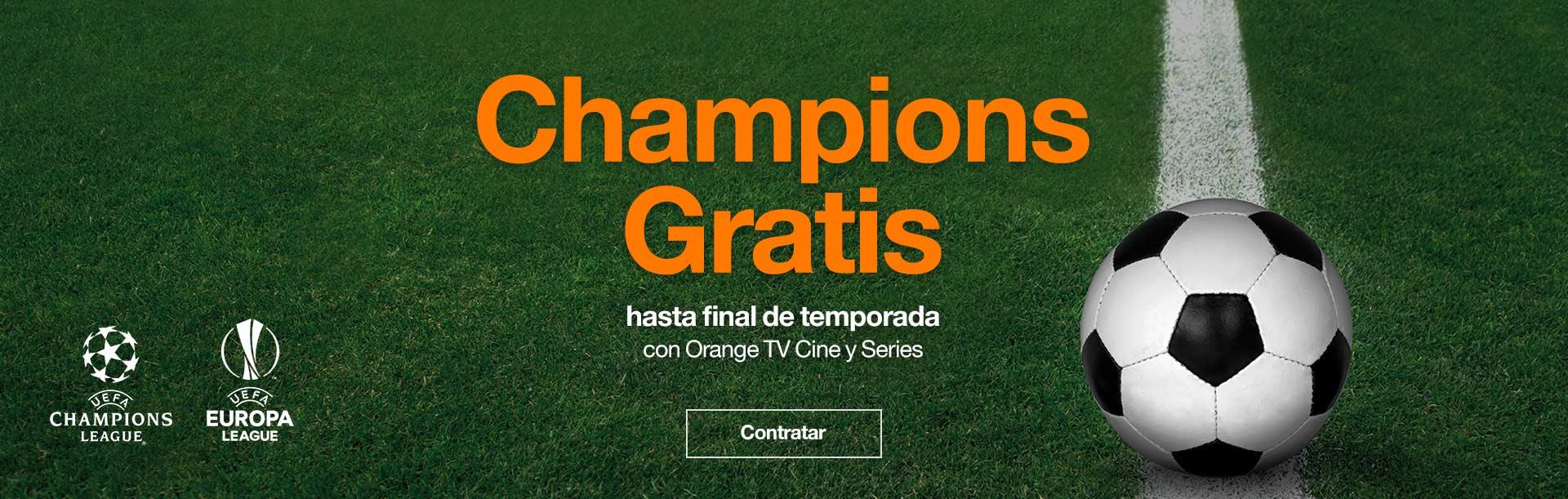 Toda la Champions gratis toda la temporada con Orange TV Cine y Series