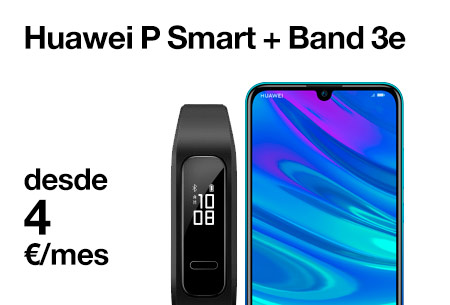 Huawei P Smart + Smartband desde 4 €/mes