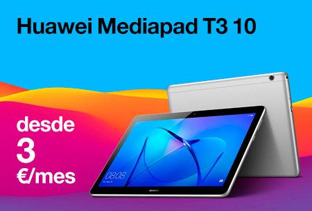 Huawei Mediapad T3 10 desde 3 €/mes