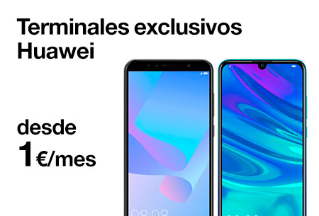 Terminales exclusivos Huawei desde 1 €/mes