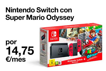 Llévate esta Nintendo Switch con Super Mario Odissey por 14,95 €/mes