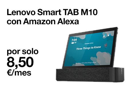Llévate ahora este Lenovo Smart Tab M10 con Amazon Alexa por solo 8,50 €/mes