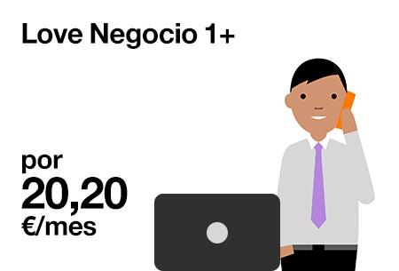 Love Negocio 1+ por 20,20 €/mes