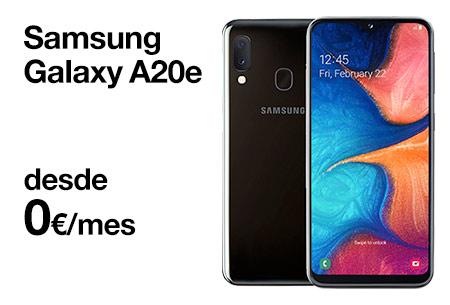 Llévate un Samsung Galaxy A20e desde 0 €/mes. ¡No lo dejes escapar!