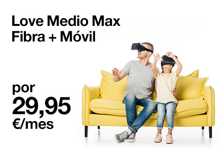 Contrata ahora nuestra tarifa Love Lite de Fibra + Móvil desde 29,95 €/mes.