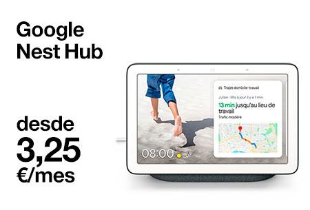 Hazte ahora con un Google Next Hub con pantalla digital desde 3,25 €/mes