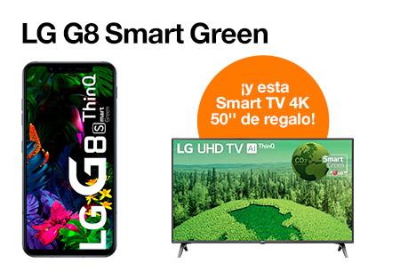 Vente a Orange y hazte con  LG G8 con una Smart TV de regalo por solo  29,95 €/mes