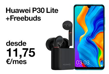 Vente a Orange y llévate un Huawei P30 Lite con unos Freebuds de regalo desde 11,75 €/mes