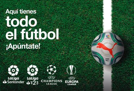 Aquí tienes todo el fútbol. ¡Apúntate y nos pondremos en contacto contigo lo antes posible