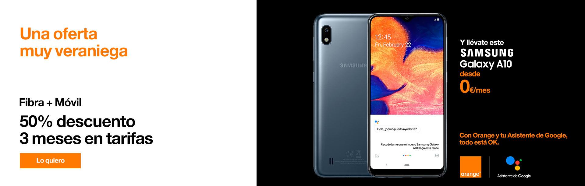 Hazte ahora con un Samsung Galaxy A10 desde 0 € y disfruta de todo lo que te ofrece el Asistente de Google