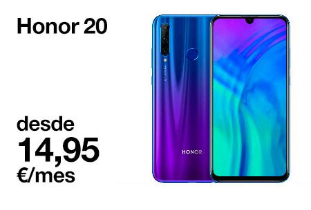 Llévate el Honor 20 desde 14,95 €/mes