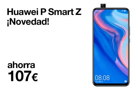 Renueva ahora por un Huawei P Smart Z y ahórrate hasta 107 € por ser cliente