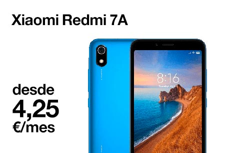 Hazte ahora con un Xiaomi Redme 7A desde 4,25 €/mes
