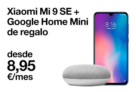 hazte ahora con este Xiaomi Mi 9 SE desde 8,95 €/mes y llévate este Google Home mini de regalo