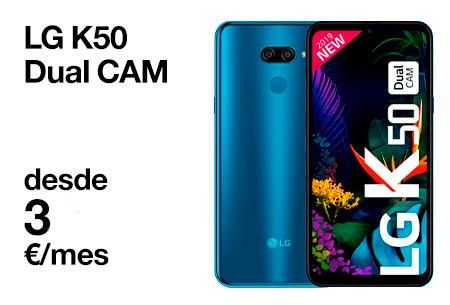 LG K50 Dual CAM desde 3 €/mes