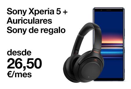 Hazte con un Sony Xperia 5 con estos auriculares de regalo desde 26,50 €/mes