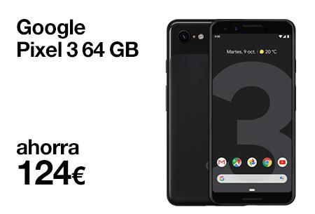 Si eres cliente, renueva ahora por un Google Pixel 3 y llévatelo desde 16,5 €/mes