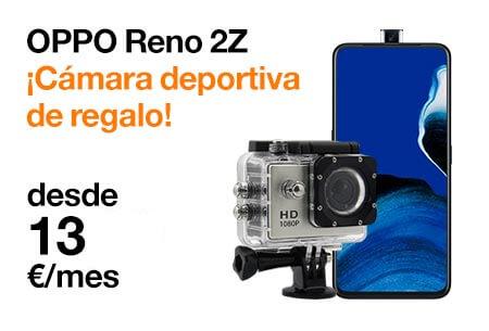 Contrata ahora el nuevo OPPO Reno 2Z desde 13 €/mes con una cámara deportiva de regalo