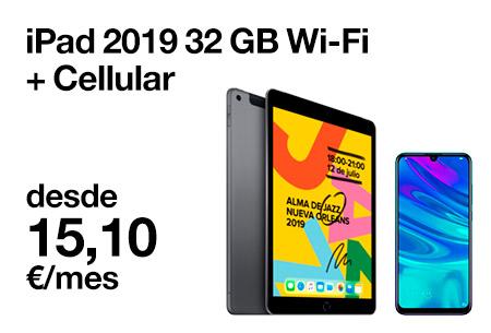 Renueva ahora por un iPad WiFi + CEL 32 GB desde 15,1 €/mes con ORange