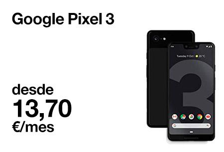 Renueva ahora por un Google Pixel 3 64 GB desde 13,7 €/mes con Orange