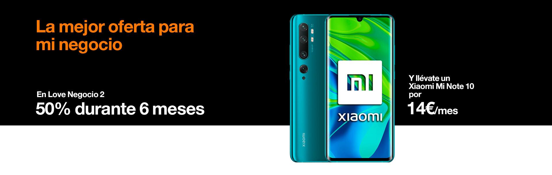 La mejor oferta para mi negocio con Love Negocio 2 y Xiaomi Redmi con Orange Note 10 con Orange