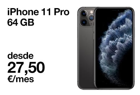Llévate un iPhone 11 Pro 64 GB desde 27,5 €/mes con Orange