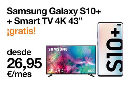 Llévate un Samsung S10+ + Smart TV 4K 43