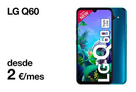 Llévate un  LG Q60 desde 2 €/mes  con Orange