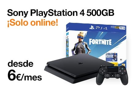 Llévate una PS4 500 GB desde 6 €/mes con Orange
