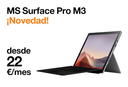 Llévate un MS Surface Pro desde 22 €/mes con Orange