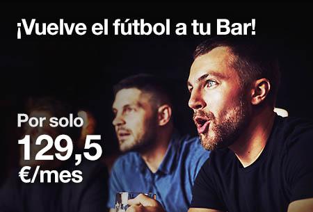 ¡Vuelve el fútbol a tu Bar! Un 50% de descuento hasta final de temporada.