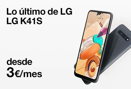 Renueva ahora por un LG K41S desde 3 €/mes con Orange