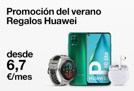 Llévate un Huawei P40 Lite y elige un Huawei Watch GT o FreeBuds 3 ¡de regalo!