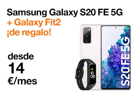 Nuevo Samsung Galaxy S20 FE 5G. Elige tu regalo: Galaxy Fit2 o Gaming Pack con Orange